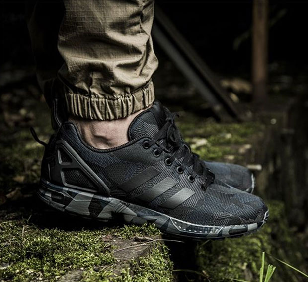 meet 491ab 2e63b THE ADIDAS ZX FLUX GETS ITS MOST INTENSE CAMO MAKEOVER YET ...